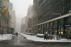Wintery  Day in the City (Lojones13) Tags: road winter snow newyork building manhattan