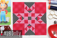gnomeangel-farmers-wife-1930-block-28-dolly-fqs (gnomeangel) Tags: modern quilt quilting patchwork tutorial farmerswife fussycutting gnomeangel fussycuttersclub farmerswife1930