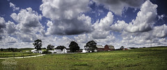 Amish Farm (mmitchelllandscapes) Tags: blue ohio summer panorama clouds farmhouse farm pano country bluesky amish blueskies amishcountry amishfarmhouse amishfarm countrylandscape holmescounty countrylandscapes millersburgohio amishcountryohio countryfarm melissamitchellphotography milersburg