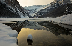 Lake Louise (Robert Ron Grove 2) Tags: lake snow canada mountains water reflections louise glaciers