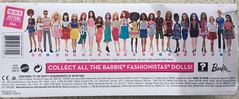 2016 Barbie Fashionistas Box (Foxy Belle) Tags: pink blue brown white black yellow 30 hair toy necklace eyes doll long african barbie skirt pale american 25 short tall petite brocade fashionistas pizazz 2016