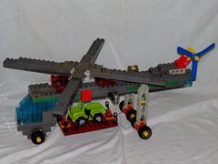 Lego Duplo - Hubschrauber - Scycrane 01 (*hannes*) Tags: lego helicopter toolo skycrane hubschrauber duplo moc helikopter rotors