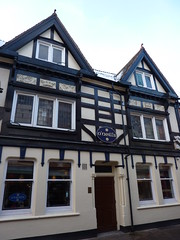 O'Neils (KiranParmar) Tags: blackandwhite buildings timber leicester timbered oneils