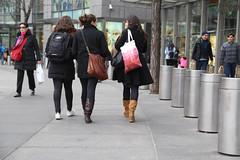 A trio of women walking around Columbus Circle. (kevinrubin) Tags: us newjersey unitedstates northbergen