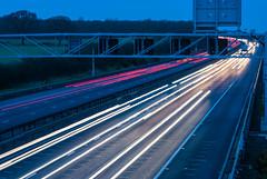 Light Trails (martynmulligan) Tags: longexposure nikon traffic sigma slowshutter lighttrails 70mm m1motorway d80