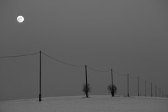 half way (marcuslange) Tags: blackandwhite moon zeiss canon germany landscape deutschland eos saxony sachsen landschaft minimalistic landscapephotography makroplanar zeissplanar zeisslenses minimalisticlandscape zeissze 5dmk3 eos5dmarkiii eos5diii planar10020ze