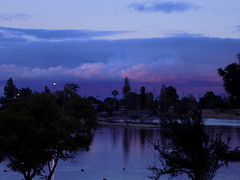 Dusk (just me julie) Tags: blue trees sunset arizona lake clouds dusk az tempe