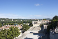 View from the top - Palais des Papes (rfzappala) Tags: france europe view place palace des palais avignon languedoc papes popes 2015
