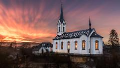 Kirche Stetten (bildli-knipser) Tags: sunset sun switzerland sonnenuntergang kirche sonne aargau stetten ch curch