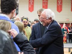 Bernie Sanders (John M Poltrack) Tags: rally crowd nh indoors politicians primary supporters berniesanders feelthebern