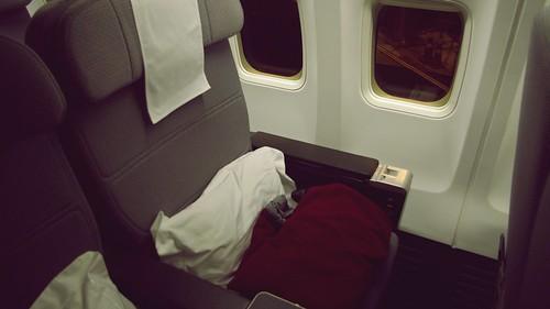 Onboard B737-800 Business Class - Qantas