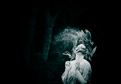 Re released. (Celebrating over 2 million views. Thank you) Tags: test woman cloud tree dark hair 50mm movement woods dof powder beginning toss capture carefree released letgo reedit