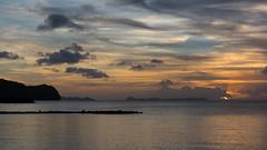 Palau Sunset (Warriorwriter) Tags: ocean sunset sea water night landscape scenery paradise cloudy palau pw oceania koror rockislands meyungs