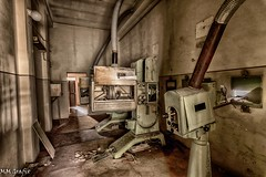 cinema machine :o) (MMGrafix) Tags: road camera old trip light urban color art abandoned rotting beautiful beauty grave architecture germany dayofthedead death photo still interesting nikon europe die photographer shadows silent darkness dynamic decay live empty exploring awesome explorer gothic ruin corridor atmosphere indoor tags beta best adventure forgotten processing architektur rusting waste sanatorium exploration schloss derelict retouching gebude decayed saal verlassen buillding gasse urbex disappear verfall rework interetingness