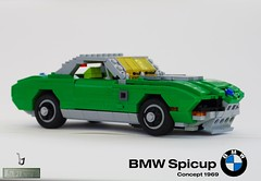 BMW / Bertone Spicup - Concept 1969 (lego911) Tags: auto italy green classic 1969 car germany one spider model italian lego spyder german hundred bmw 100 lantern 1960s concept win ways coupe challenge e9 lugnuts gandini moc bertone miniland foitsop lego911 spicup onehundredwaystowin