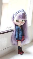 Purple (Emily´s Dolls) Tags: bigeyes doll blythe blythedoll customblythe customdoll dollcustom blythecustom blythetakara dollcollector blythecollector blythefake customfake