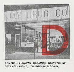 D is for Dopamine (Depression Press) Tags: artwork pharmacy printing drugs depression printmaking drugstore letterpress press pharmacist flashcard letraset dopamine diazepam diclofenac letterd digoxin doxycycline demerol depressionpress dexamethoasone