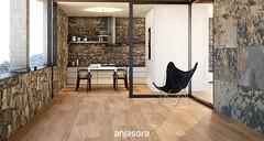 LIVING ROOM Serie Wood Roble (Anjasora) Tags: design ceramics natural tiles interiordesign interiorism rusticinteriors