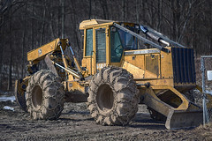 (drop photography) Tags: logging johndeere skidder tirechains