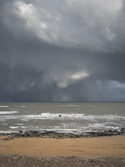 Kingsbarns Storm Clouds 002 final (KeithProvenArtist) Tags: seascape storm beach rain clouds landscape coast scotland waves fife dramatic shore kingsbarns olympusomd