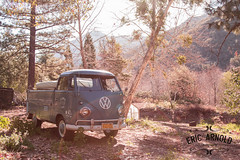 Big Bear (Eric Arnold Photography) Tags: california ca sun bus classic window vw forest truck vintage magazine volkswagen rust shoot photoshoot cab rusty retro commercial single flare 1956 van split camper 56 feature patina bigbear bigbearlake sunflare bigbearmountain splitty