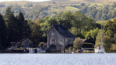 Boat Houses (lens buddy) Tags: uk lake boat lakedistrict steam cumbria gondola coniston bluebirdcafe canoneosdigital lakeconiston steamgondola