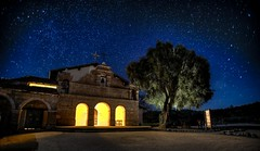 Mission San Antonio on Fort Hunter Liggett (Mstraite) Tags: california old longexposure light color tree brick night stars star interesting long bell fort military historic explore mission historical hunter caminoreal lightroom deanza liggett explored