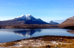 Scottish Highlands in winter sunshine. (Dove*) Tags: snow reflection scotland bluesky