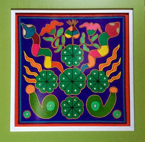 Arte huichol, representa el peyote