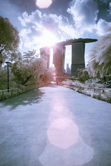 Light the way with Flare (JamCanSing) Tags: clouds singapore dragonfly path flare infrared mbs intothesun nearinfrared 720nm gardensbythebay channelswap marinabaysands gbtb