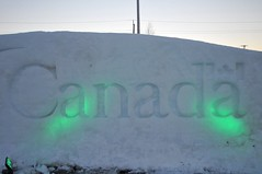 Canada Govt snow wall pb (Patricia Bourque Photographer) Tags: events pei snowfestival jackfrost jackfrost2016