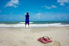 Ocean is alfa and omega of life, it came out of the ocean and it will return there in the end (eweliyi) Tags: ocean blue woman beach me girl standing self sand waves outdoor empty bluesky shore malaysia flipflops ja kuantan vast bluedress project365 93365 eweliyi 365v4