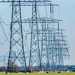 High voltage transmission towers - Polder Stein - Haastrecht thumbnail