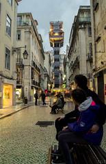 Elevator Operator (Vctor Gmez Kapranos) Tags: santa longexposure nightphotography portugal nikon lisboa lisbon elevator slowshutter justa nikonphotography d3100