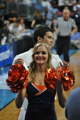 CHEERING FOR THE HOOS (SneakinDeacon) Tags: basketball cheerleaders providence tournament ncaa uva wahoos friars cavaliers bigeast hoos pncarena