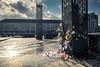 Hommage des Liégeois aux victimes des attentats de Bruxelles (Gilderic Photography) Tags: city light brussels canon square place belgium belgique belgie column tribute hommage liege ville saintlambert g7x gilderic
