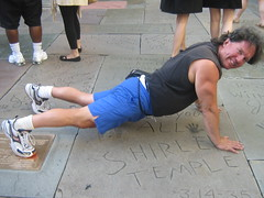 push ups on shirley temple foot prints hollywood (pushupman) Tags: world records temple foot walk doug fame ups hollywood prints shirley push pruden pushupman pushupguy