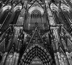 Faade of History... (RALPHKE) Tags: travel building history church architecture facade canon germany deutschland blackwhite flickr cathedral gothic cologne landmark architectural unescoworldheritagesite april neogothic koln masterpiece klnerdom colognecathedral gothiccathedral keulen tallbuildings 2016 cityofcologne canoneos750d