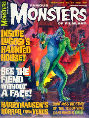 Famous Monsters #37 (1966), cover by Gray Morrow (Tom Simpson) Tags: illustration vintage magazine painting 1966 cover horror 1960s famousmonsters 20millionmilestoearth ymir rayharryhausen graymorrow