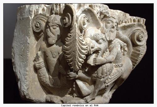 Capitel románico en el MAN