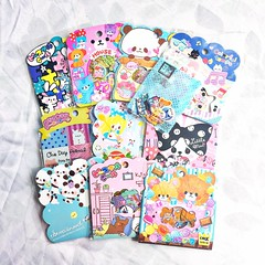 kawaii sticker sack haul. (JU671NE) Tags: cute sticker stickers sanrio kawaii stationery crux qlia fortissimo sanx kamio mindwave poolcool stickersack kawaiistationery lemonco stickersacks stickerflake stickerflakes