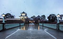 . (bgfotologue) Tags: winter light snow castle japan night garden landscape photography shrine outdoor  nippon middle  nagano   kanazawa bg     2015   tsuzumimon     ishikawaprefecture 500px  thumblr bellphoto photobybg utatsushrine