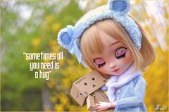 """Sometimes all you need is a hug"" (Suki) Tags: portrait cute love hug couple heart sweet bokeh outdoor pullip pullips pullipcustom danboard poisongirldolls"