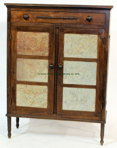 Grant County, VA 6-Tin Pie Safe with Drawer - $880.00 (Sold March 20, 2015)