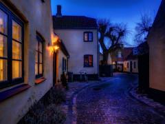 Dragoer old town (ibjfoto) Tags: denmark dragr outdoor nightlight sealand bluehour danmark sjlland dragoer evenening bltime ibjensen ibjfoto dragrgamleby dragoeroldtown