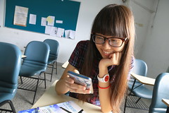 Hey,concentrate in class (BTM Photography TW) Tags: portrait people woman cute girl beautiful beauty canon women pretty classroom taiwan         70d 1585