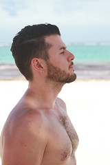 Me (Homero.Montemayor) Tags: bear gay hairy male beach mxico canon beard chest hunk piercing 7d otter cancun scruff gays grindr
