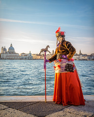 Nancy at Sunset (Kayla Stevenson) Tags: venice costume model piazza sangiorgiomaggiore nancycioni