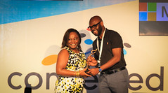 Microsoft ICT AwardWinner in the County Initiative is Machakos County..Presented to Nicholas Kakwe
