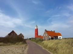Leuchtturm Eierland (latariosreise) Tags: blue sky holland netherlands clouds europa europe day cloudy outdoor tag himmel architektur blau cheerful landschaft vuurtoren texel leuchtturm noordholland niederlande bewlkt heiter decocksdorp nordholland eierland appleiphone6 latarios
